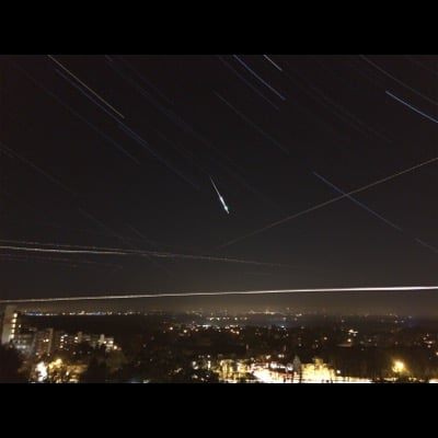 Meteor by Florian Seiffert. Settings: Star Trails mode