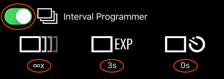 The Interval Programmer interface