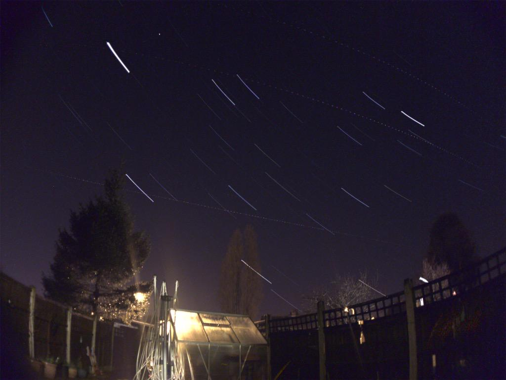 Photo of star trails