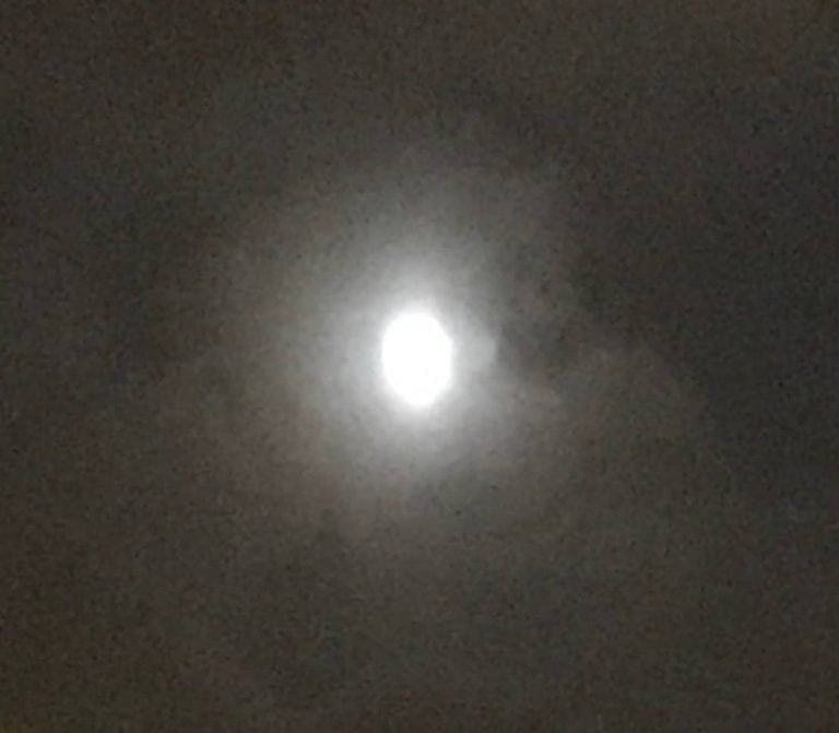 Photo of the moon, overexposed